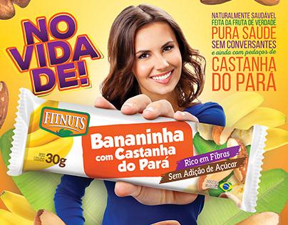 Embalagem Bananinha com Castanha do Pará Fitnuts