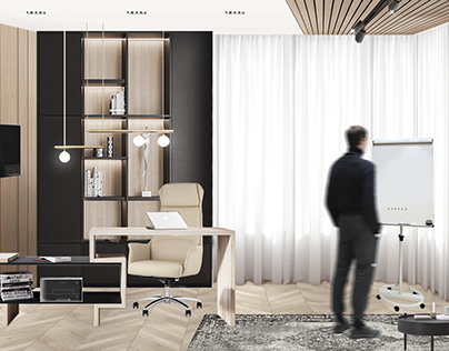 Home office design (interior collage)