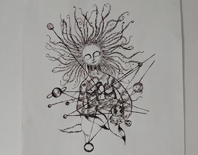 canetas, nanquim e lápis