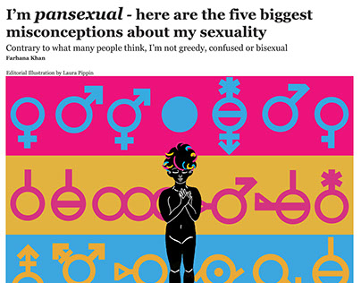 Full Spread Pansexuality Editorial Illustration