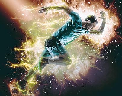 Blazing Explosion Photoshop Action