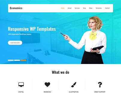 clean and minimal WordPress theme