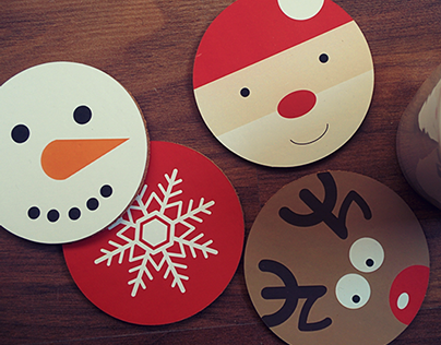 Christmas Cup Coasters