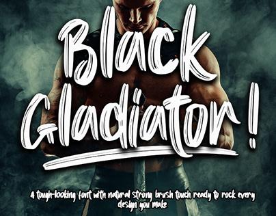 FREE | Black Gladiator Strong Brush Font