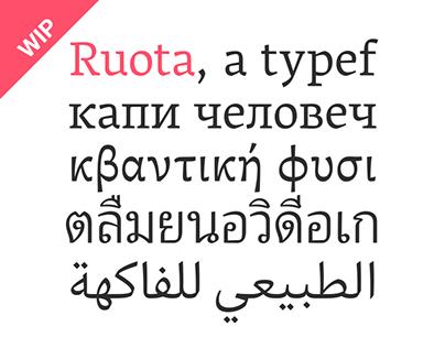 Ruota – Multi-script super family typeface