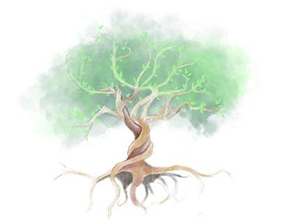 Planting trees illustrations