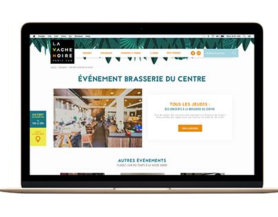 Website for a Shopping center