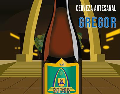 Afiche de Cerveza artesanal GREGOR-Tacna,Lima,Peru