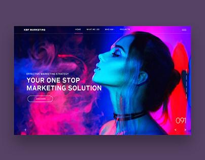 Ui/Ux Design For KBF Marketing