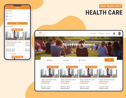 Health Care Web Application