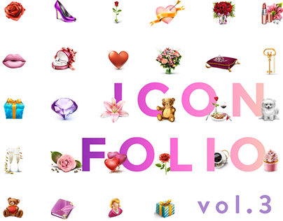 Icons vol. 3 Dating and Virtual Gifts icons collection
