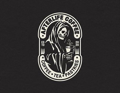 Afterlife Coffee Badge Logo