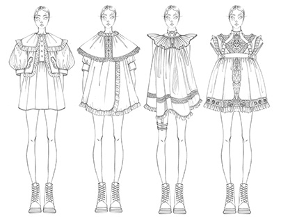 Capsule collection. Victorian children's clothing.