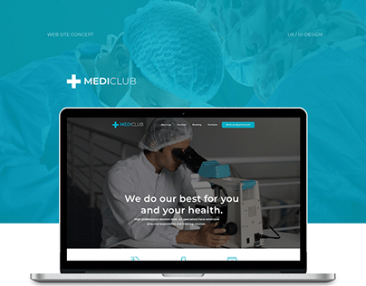 Clinic website concept