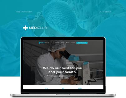 Clinic website concept