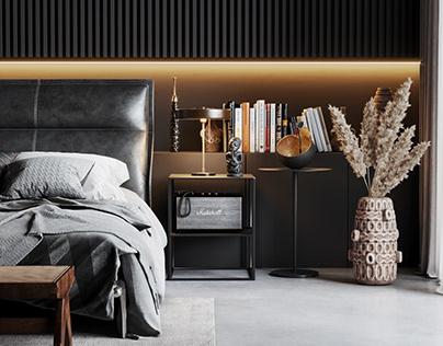 Scene Bedroom Black 2.0 corona render