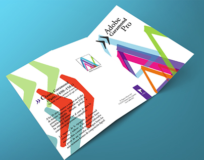 triptico tipografía Adobe Garamond Pro