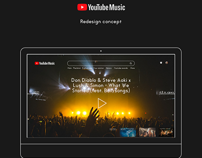Redesign for Youtube music