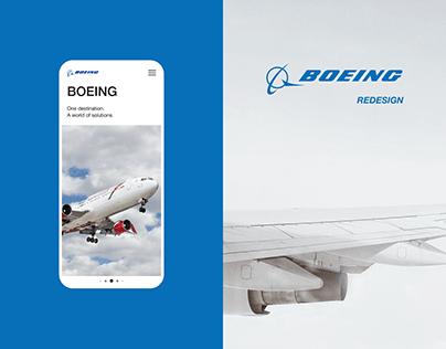 BOEING - UX/UI redesign