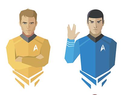 Star Trek flat-design icons