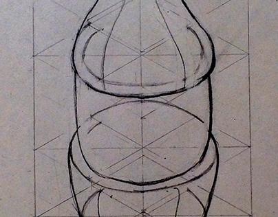 Geometrización de una botella de Coca Cola