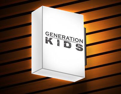 Nuova identità visiva per il cliente Generation Kids.