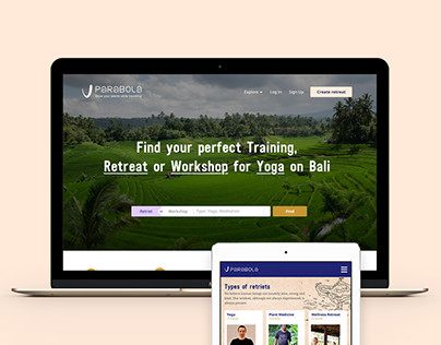 Parabola. Search retriets and workshops in Bali