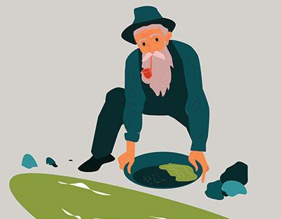 The Old Prospector | Illustration