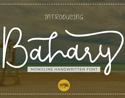 Bahary Monoline Font