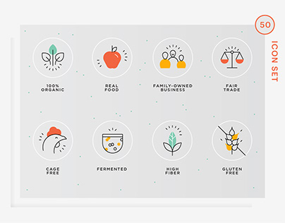 Real food value icons