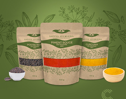 Sattva Ayurveda Packaging Design