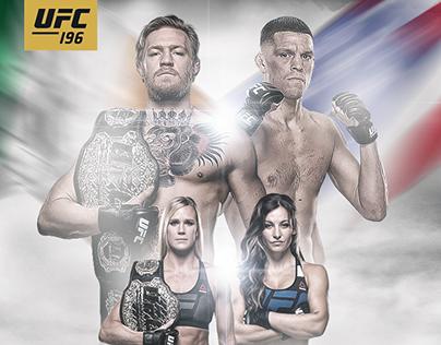 UFC 196 Unofficial Poster (V1 & V2)