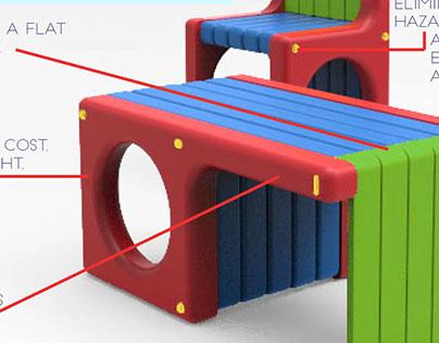 Lean n' Learn - Reconfigurable Classroom Furniture