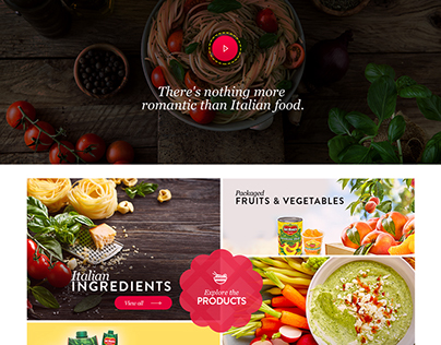 Home page design for a pitch - Del Monte.