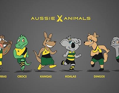 Aussie X Animals - Illustrating