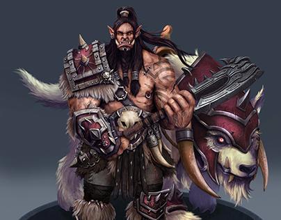 Grom Hellscream and War Wolf