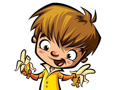 Banana Boy / cartoon mascot character illustration