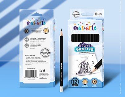 Packaging Lápices de Grafito Más+Arte