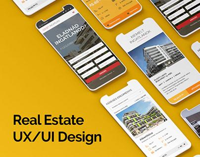 Sziget Ingatlan Real Estate UX/UI design
