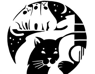 Inky cats