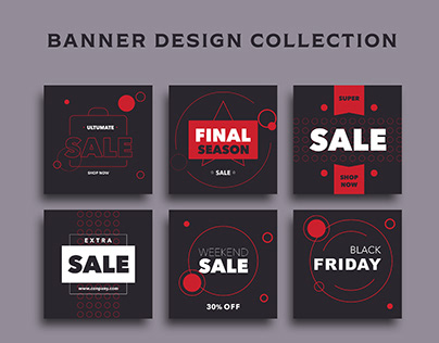 Banner design collection