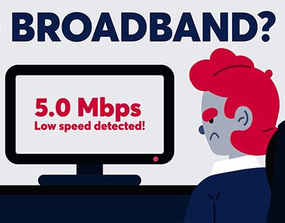 Imagine ' Bad Broadband' Animation