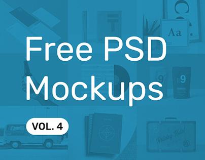 Free PSD Mockups vol. 4