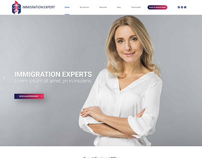 Immigration Lawyer Landing Page Website Concept