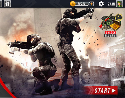 Multiplayer Shooting Game UI