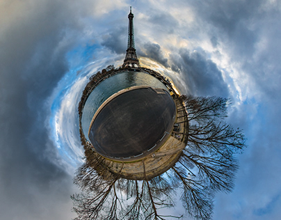 Tiny Planet-sur-Seine