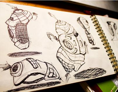 Random Industrial Design Sketching