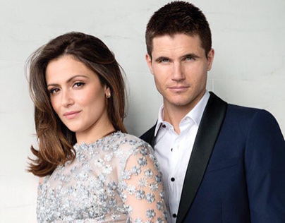 Italia Ricci and Robbie Amell for Hello Canada