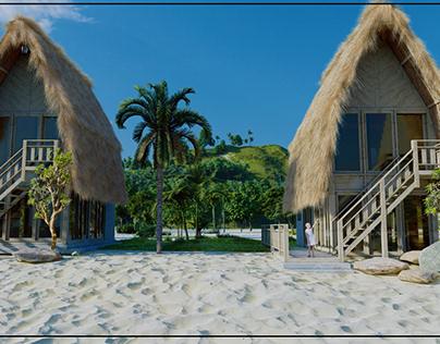 semi beach house