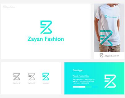 Zayan Fashion modern logo design.